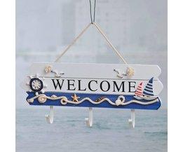 Leuke Kapstok Hout Welcome Bord
