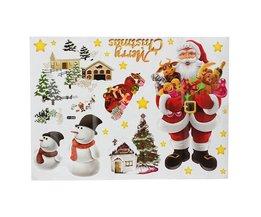 Decoratieve Kerst Muursticker 70 x 50 CM