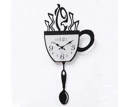Decoratieve 3D Koffiekop Klok