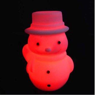 Van Kleur Veranderende LED Sneeuwpop Nachtlamp