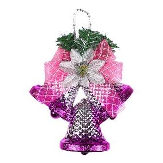 Roze Kerst Klok
