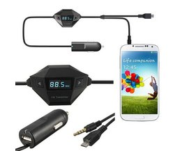 FM Transmitter en Micro USB Lader voor Smartphone