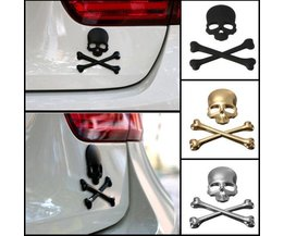 Doodshoofd Sticker Voor Auto