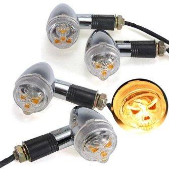 Motorlampen Met Doodshoofdmotief