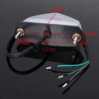 Achterlicht Motor Met LED-lampjes