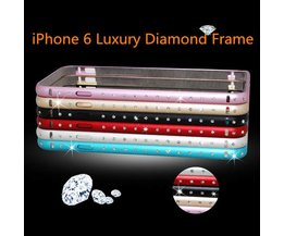 Metalen iPhone 6 Bumper Met Diamantjes
