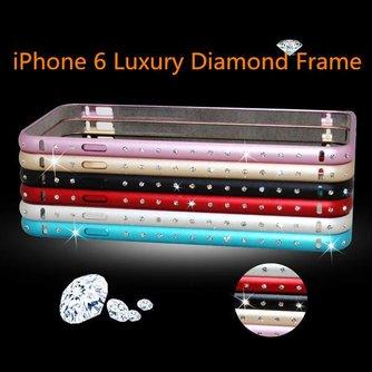Metalen iPhone 6 Bumper Met Diamantjes