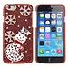 Kerstmis Hoesje Voor iPhone 6 Met Sneeuwpop