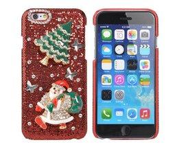 Hoesje Voor iPhone 6 Met Kerstmannetje