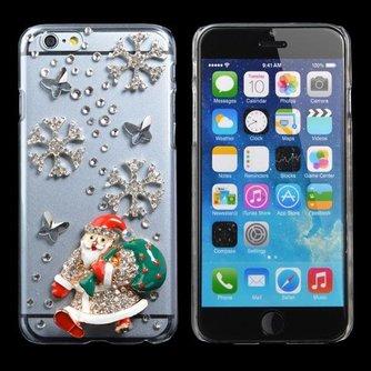 Hoes Voor De iPhone 6 Met Diamanten Kerstman
