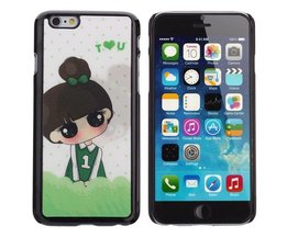 Back Case Voor iPhone 6 Little Girl 3D