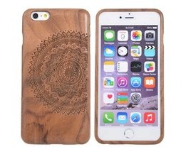 Houten Hoes Met Mandala Patroon Voor iPhone 6 Plus