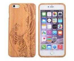 Houten Hoes Met Golven Voor iPhone 6 Plus