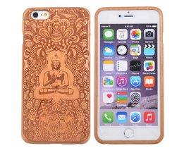 Houten Hoes Met Boeddha Beeld Voor iPhone 6 Plus