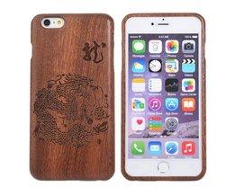 Houten Hoes Met Draak Voor iPhone 6 Plus