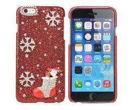 Rode Hoes Met Kerstsok Voor iPhone 6 Plus