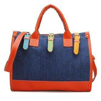 Kleurige Color Block Handtas