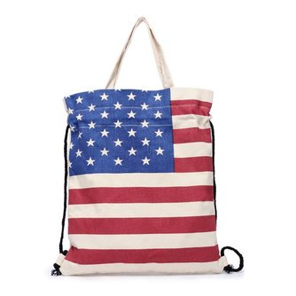 Katoenen Tas Engelse of Amerikaanse Vlag