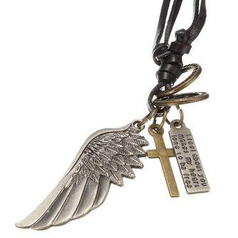 Sleutelhanger Met Kruis en Engelenvleugel