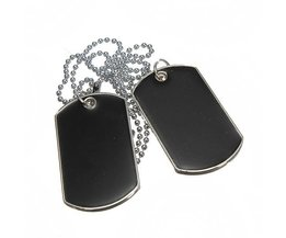 Dog Tags 2 Stuks met Ketting