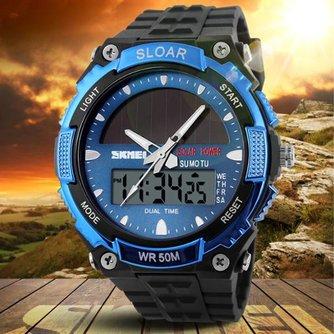 SKMEI 1049 Horloge op Zonne-energie LED Analoog en Digitaal