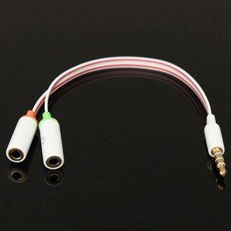 3.5mm Audiokabel met 2 Uitgangen