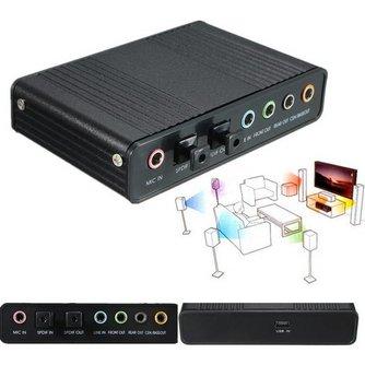 Externe geluidskaart 5.1 met USB