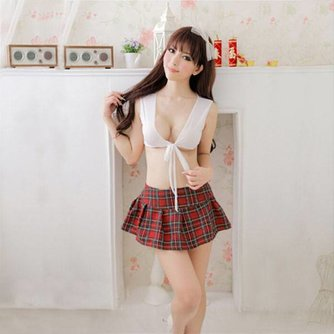 Sexy Schooluniform met Rokje