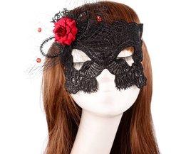 Gala Masker van Zwart Kant