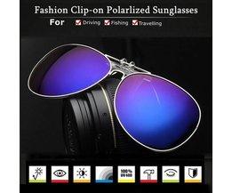 Clip On Polaroid Zonnebrillen In Diverse Kleuren