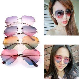 Hartvormige Zonnebril Voor Dames