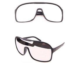Grote Zonnebril Met Gespiegelde Glazen