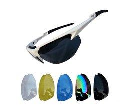 Fietsbril met Gekleurde Glazen Als Deel van Set