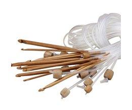 Afghaanse Haaknaalden Bamboe 12 Stuks
