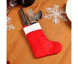 Kersttafel Decoratie Bestekversiering 1stuks