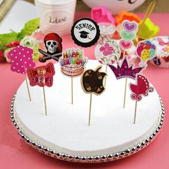 Feestelijke Cake Toppers met Prachtige Patronen