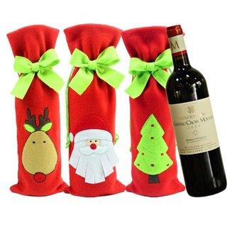 Verpakking Wijnfles Kerst