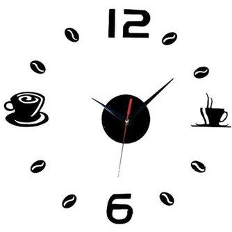 Klok Muursticker Koffie