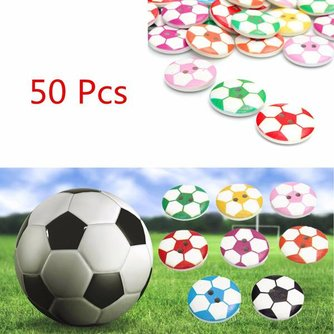 50 Voetbal Houten Knopen Kopen