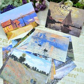 30 Monet Wenskaarten