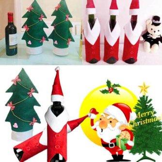 Wijnfles Decoratie Kerst