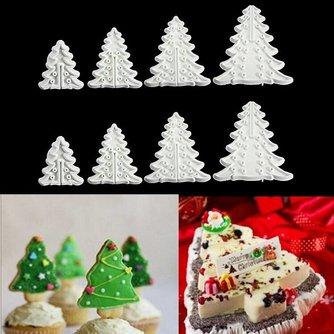 Kerstboom Koekjesvorm 8 Stuks