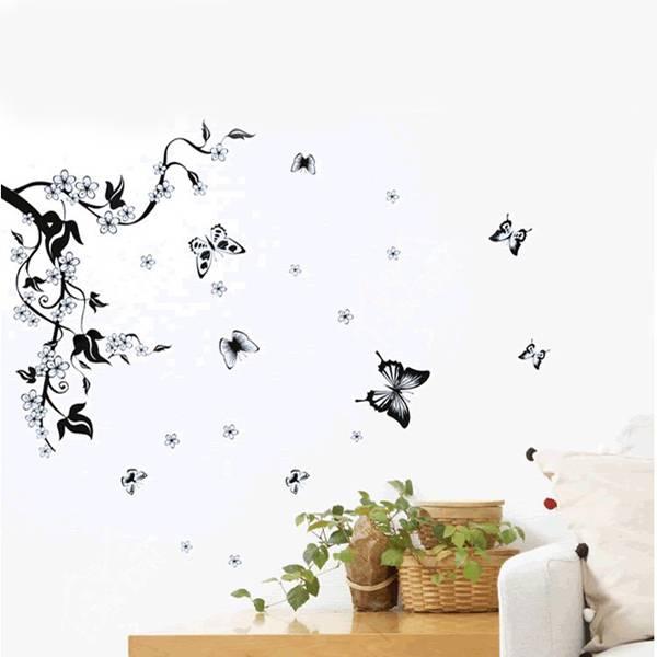 Muursticker Boom en Vlinders