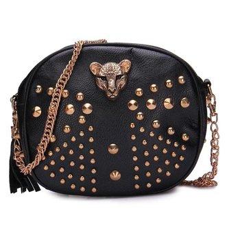Kleine Handtasjes Klinknagels Luipaard