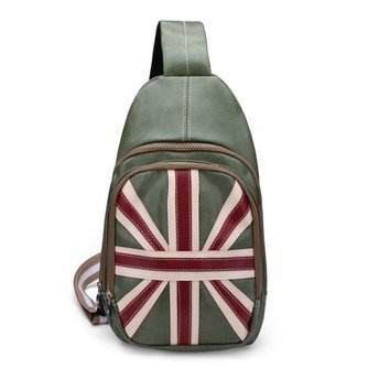 Tas met Engelse Vlag PU Leer