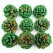 Dennenappel met Groene Glitters
