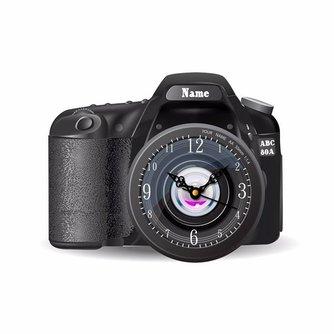 3D Muursticker Camera met functionerende klok