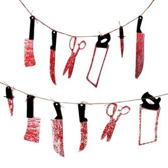 Halloween Slinger met 12 Bloederige Wapens