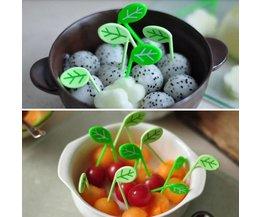 Fruitprikkers Groene Bladeren 10 stuks