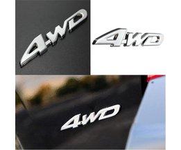4WD Sticker Voor Auto